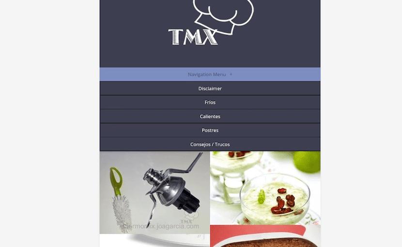 menu Thermomix