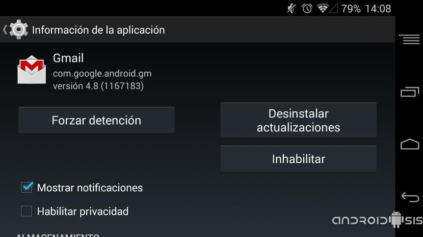 Problemas de sincronización con Gmail en Android