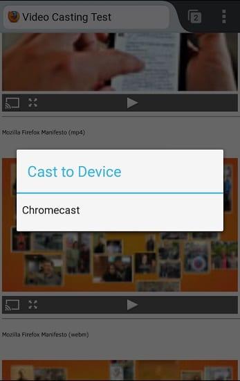 Chromecast Firefox
