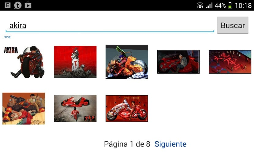 Búsqueda de imágenes en Messenger