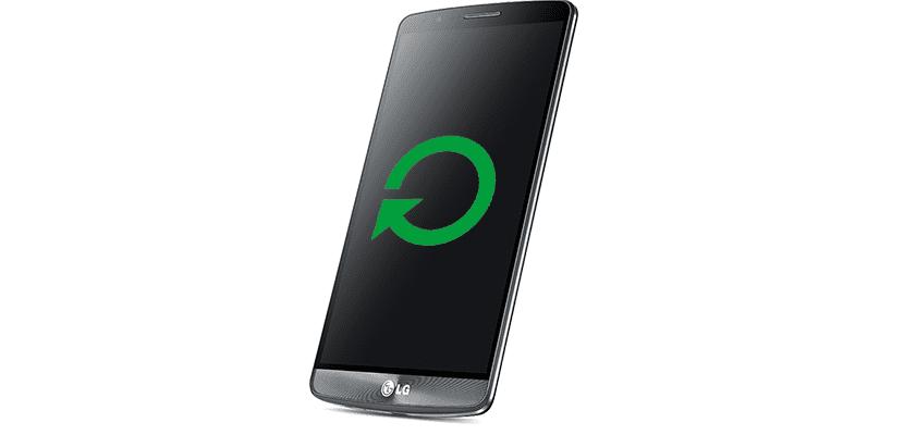 LG G3 reiniciándose