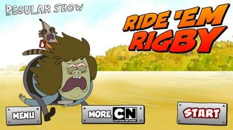 Ride 'Em Rigby de Cartoon Network
