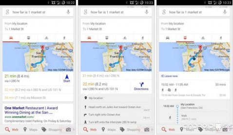[APK] Google Now se actualiza con nuevas tarjetas para Google Maps