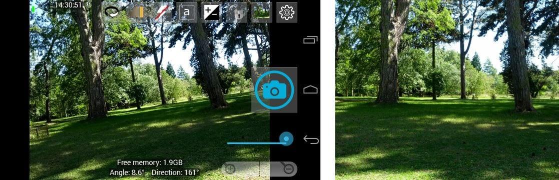 Ejemplo de estabilidad de Open camera