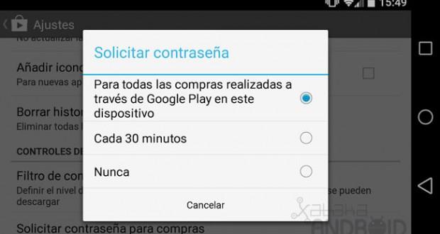 Google Play empieza a solicitar la contraseña para realizar cualquier compra