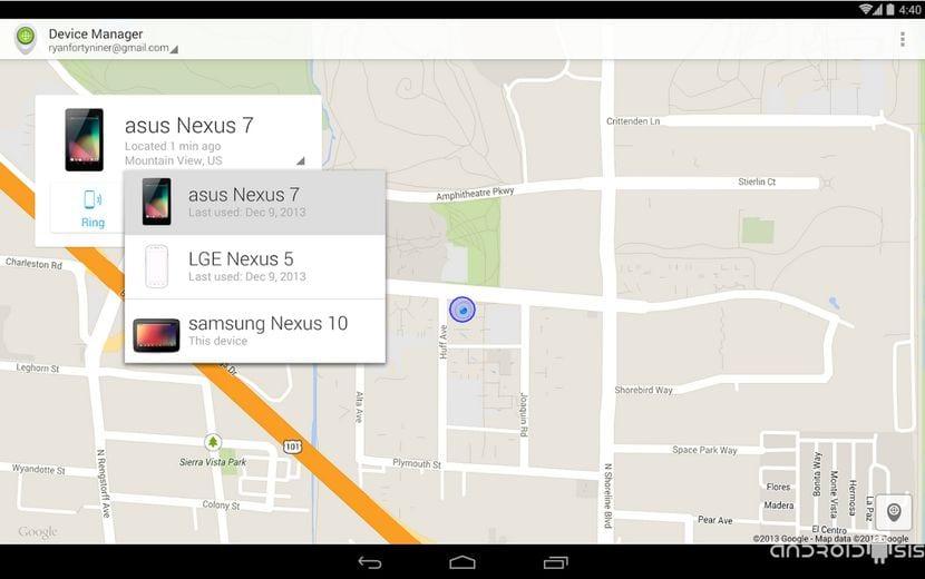 Cómo usar el Administrador de Dispositivos de Android, Android Device Manager