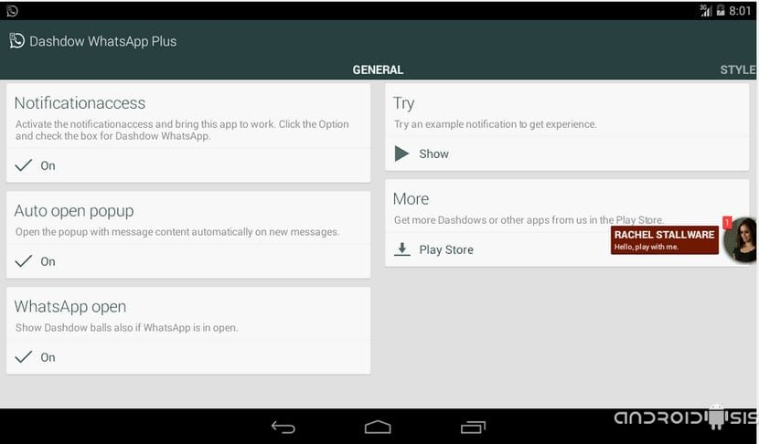 Aplicaciones increíbles para Android: Hoy, Dashdow WhatsApp