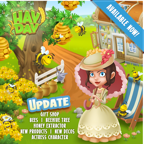 Hay Day abejas
