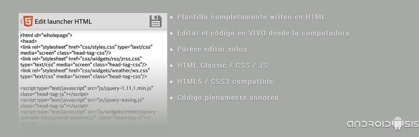 HTML Launcher, el primer Launcher diseñado en HTML5