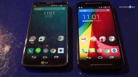Test de velocidad: LG G2 vs Moto G 2014