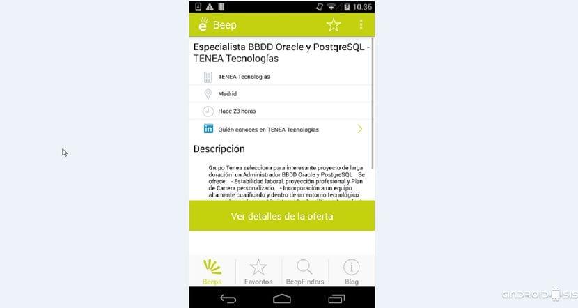 Ofertas de trabajo de todos los portales de empleo en una única aplicación con Jobeeper
