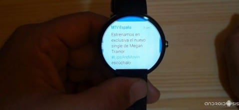 Aplicaciones imprescindibles para Android Wear: Hoy Twitter for Android Wear