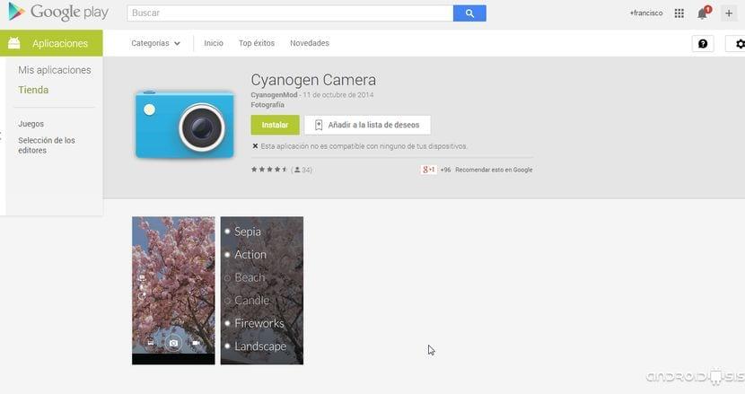 [APK] Cyanogen Cámara, la cámara del OnePlus One en el Play Store de Google