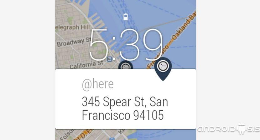 Aplicaciones imprescindibles para Android Wear: Hoy @here, aplicación para conocer tu ubicación actual en todo momento