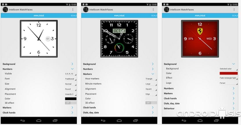 Aplicaciones imprescindibles para Android Wear, hoy Android Wear WatchFaces