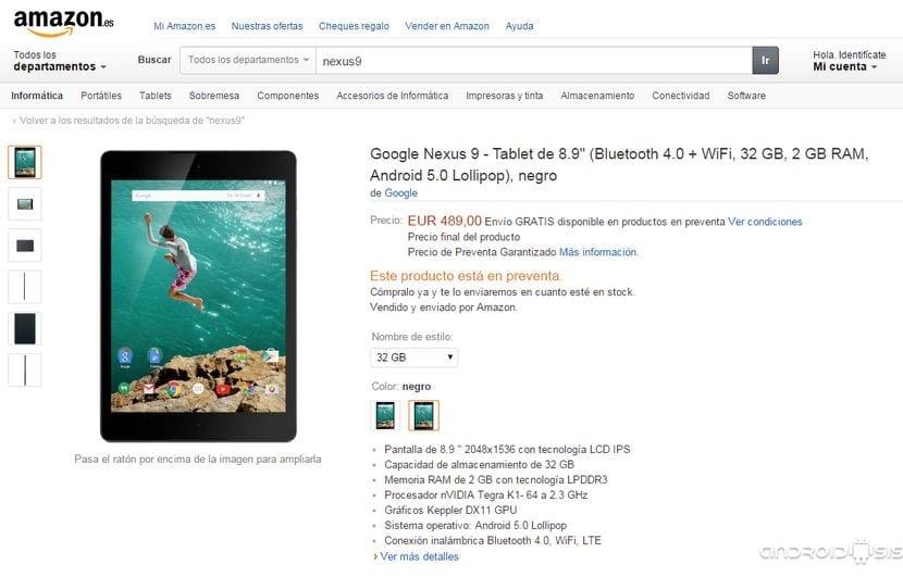 [Actualizado]Ya puedes comprar la Nexus 9 en Amazon por 399,99$