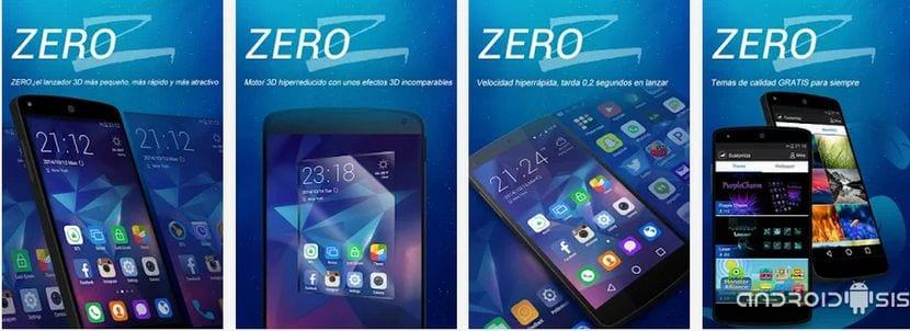 Zero Launcher, espectacular Launcher gratuito para Android