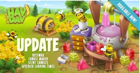 Hay Day velas abejas