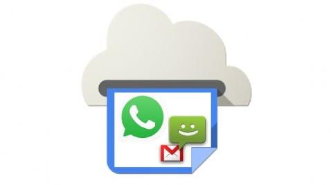 Imprimir mensajes WhatsApp SMS