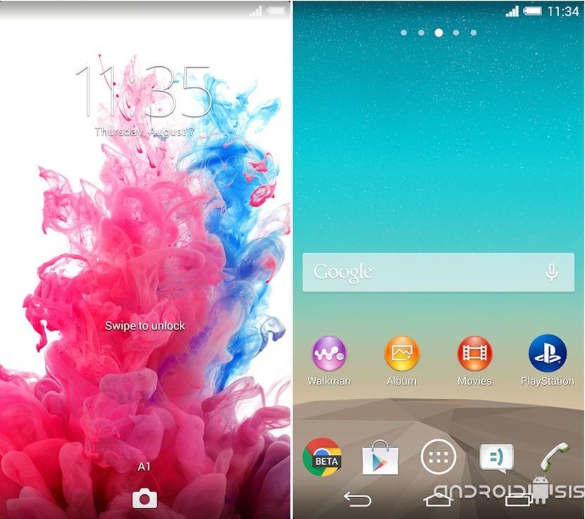 Instala el tema del LG G3 en terminales Xperia