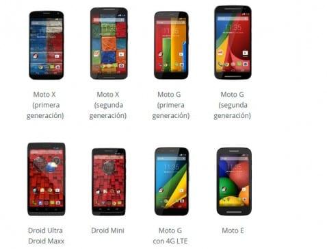Se confirma de manera oficial la lista de dispositivos Motorola a Actualizar a Android 5.0 Lollipop