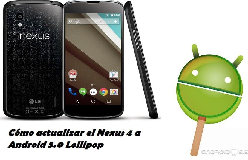 Cómo actualizar el Nexus 4 a Android 5.0 Lollipop