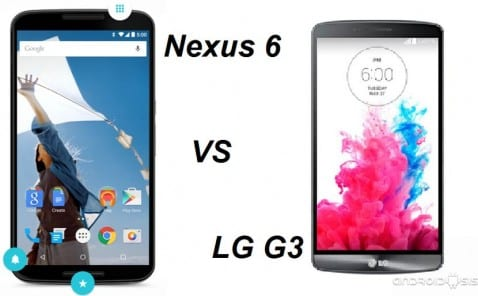 Comparativa entre el Nexus 6 vs LG G3