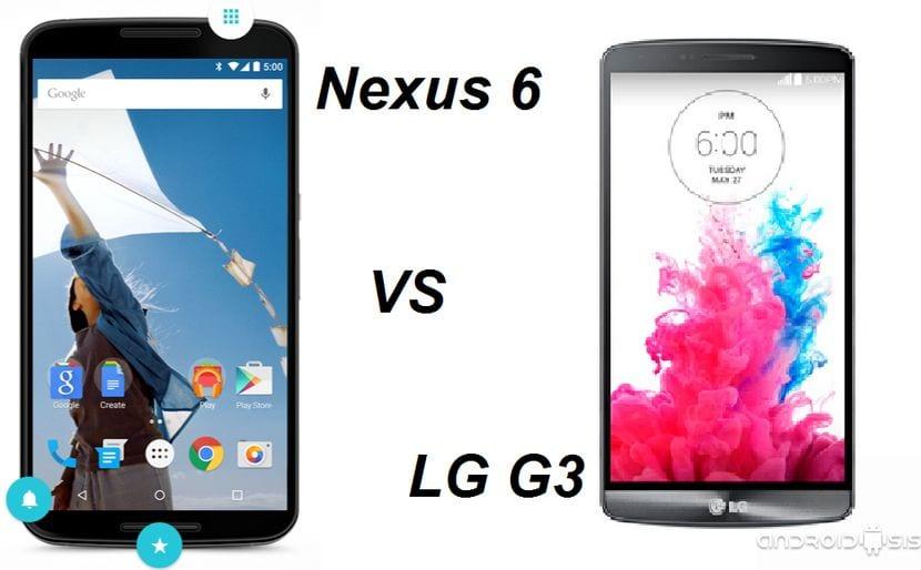 Comparativa entre el Nexus 6 vs LG G3