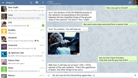 Telegram en tablets