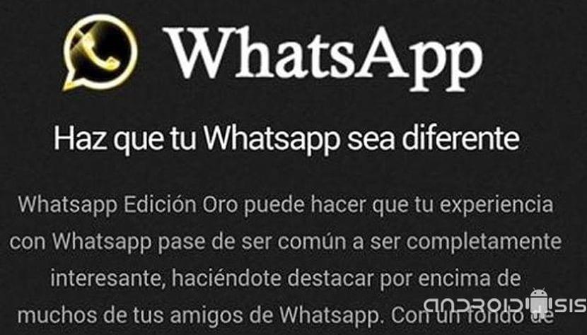 WhatsApp Edición Oro el #Bulo de moda en la Red