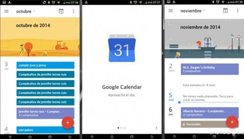 [APK] Google Calendar 5.0, descarga e instala el calendario de Google para Android 5.0 Lollipop