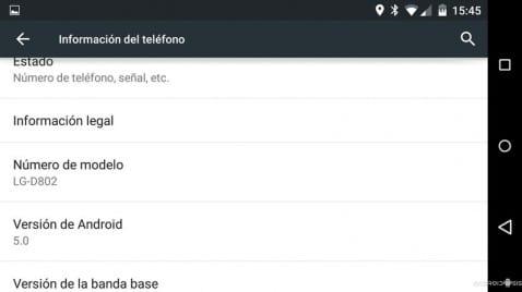 Cómo actualizar el LG G2 a Android 5.0 Lollipop de manera extraoficial modelo D802