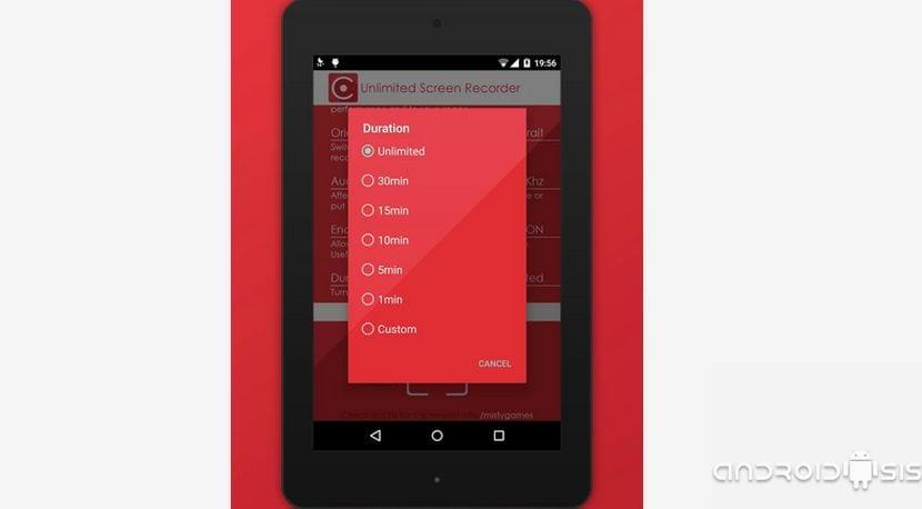 Unlimited Screen Recorder Free o cómo grabar la pantalla de tu Android sin limites y completamente gratis
