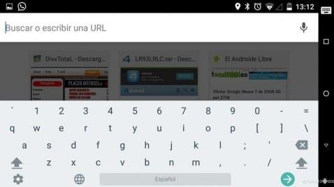 Cómo habilitar la quinta fila numérica en el teclado de Google Google Keyboard