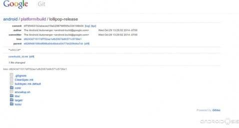 Google libera el código fuente de Android 5.0 Lollipop, próximamente las primeras Roms Cocinadas con Android Lollipop