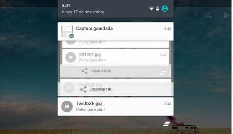 Historial notificaciones Android