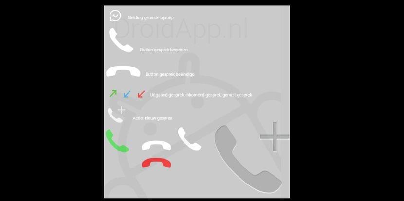 ¿Posible filtración de los iconos de las llamadas de voz de WhatsApp u otro Fake?
