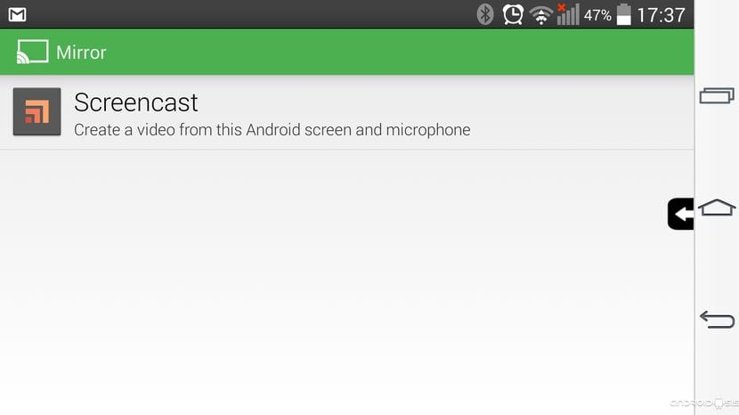 Cómo hacer fácilmente ScreenCast de la pantalla de tu Android 4.4+