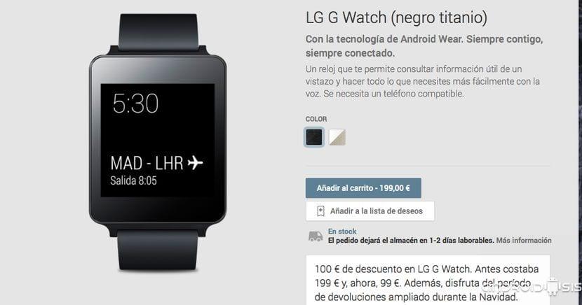 LG G Watch 99 Euros