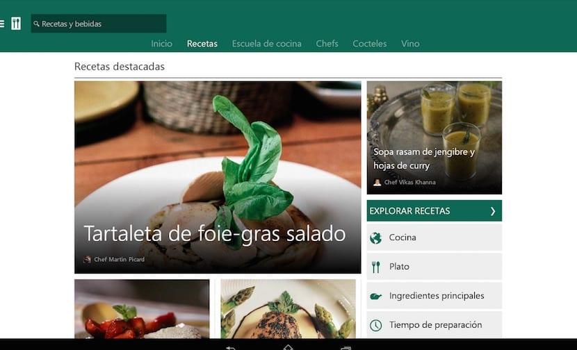 MSN Recetas menús