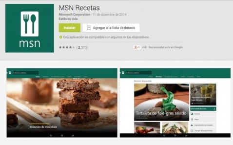 MSN Recetas portada