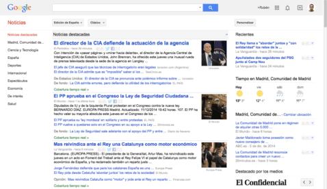 Portada de Google Noticias España