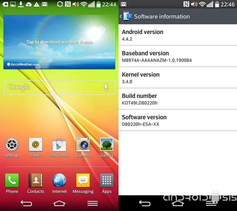 Cómo actualizar tu LG G2 al último firmware original europeo D80220H