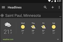 [APK] Google News and Weather versión 2.2