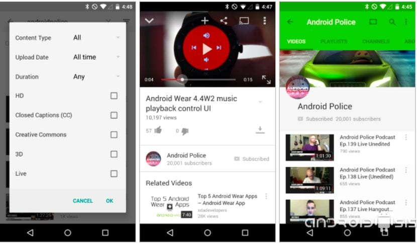 [APK] You Tube recibe su ración de Material Design