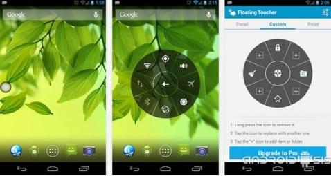 Aplicaciones increíbles para Android; Hoy, Floating Toucher