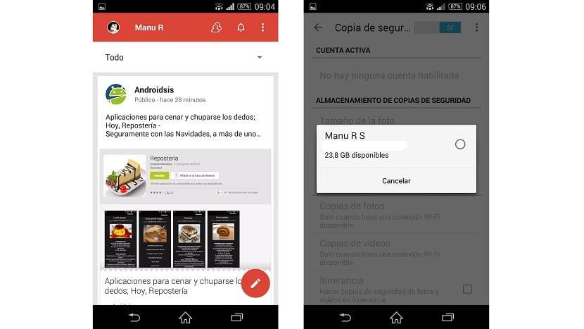 Copia seguridad automatica imagenes Google+