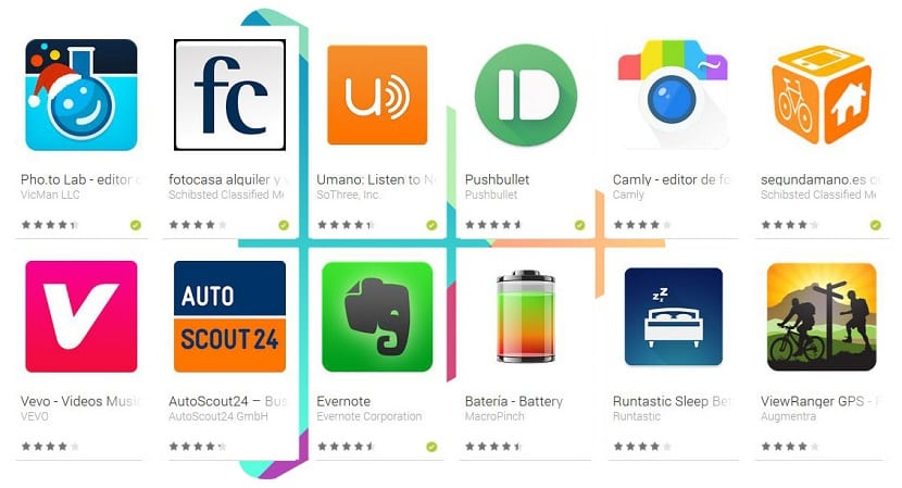 Lista apps Google