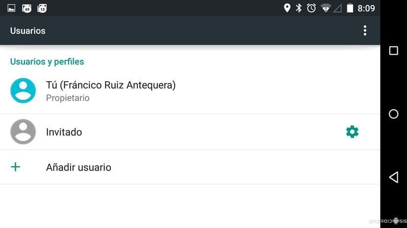 Todo acerca de la opción nuevo usuario y usuario invitado en Android Lollipop