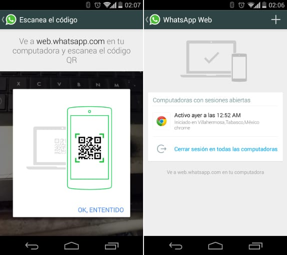 WhatsApp cliente web